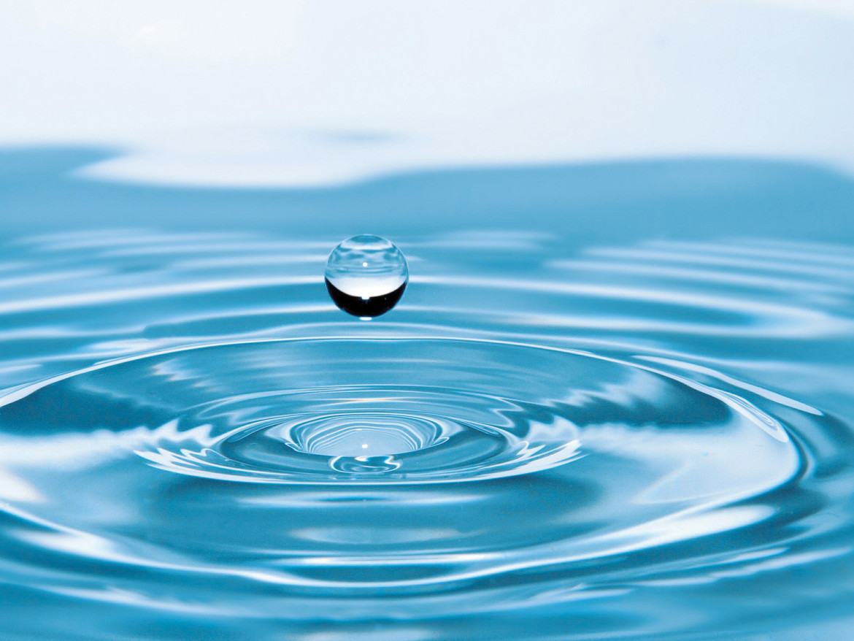 Ein Wassertropfen illustriert das Problem der Inkontinenz.