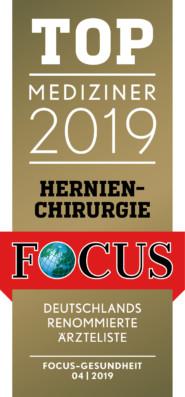 Focus Siegel Dr. Frank P. Müller - Topmediziner im Bereich Hernienchirurgie