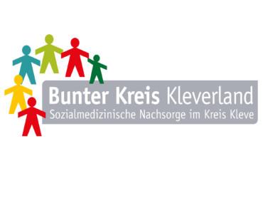 Logo des Bunten Kreises Kleverland - stilisierte bunte Männchen halten sich an den Händen.