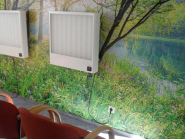 Zwei Geräte der Lichttherapie im Marianne van den Bosch Haus.