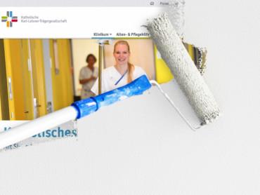 Grafische Darstellung des Relaunches: Die Webseite wird neu angestrichen.