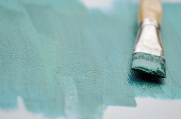 Ein Pinsel illustriert die Kunsttherapie