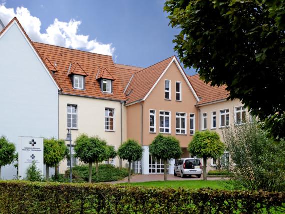 Eingang des St. Nikolaus-Hospitals Kalkar.