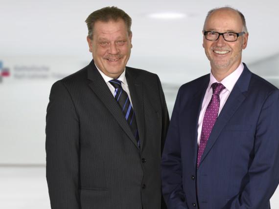 Die Geschäftsführer der Katholischen Karl-Leisner-Trägergesellschaft Bernd Ebbers und Ottmar Ricken.