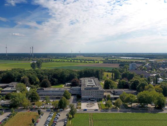 Luftaufnahme des Wilhelm-Anton-Hospitals Goch.