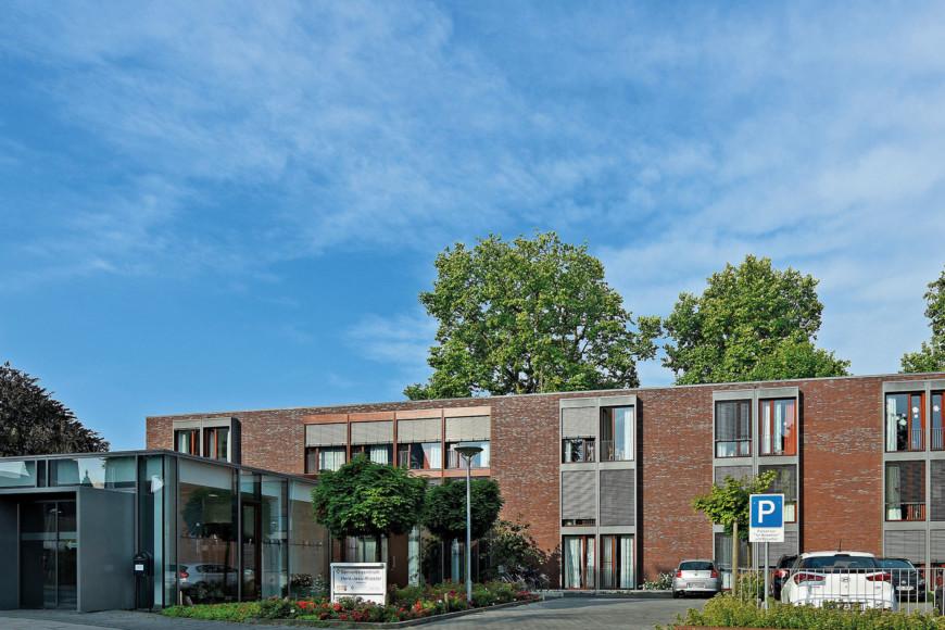 Der moderne Neubau des Seniorenzentrums Herz-Jesu-Kloster in Kleve.