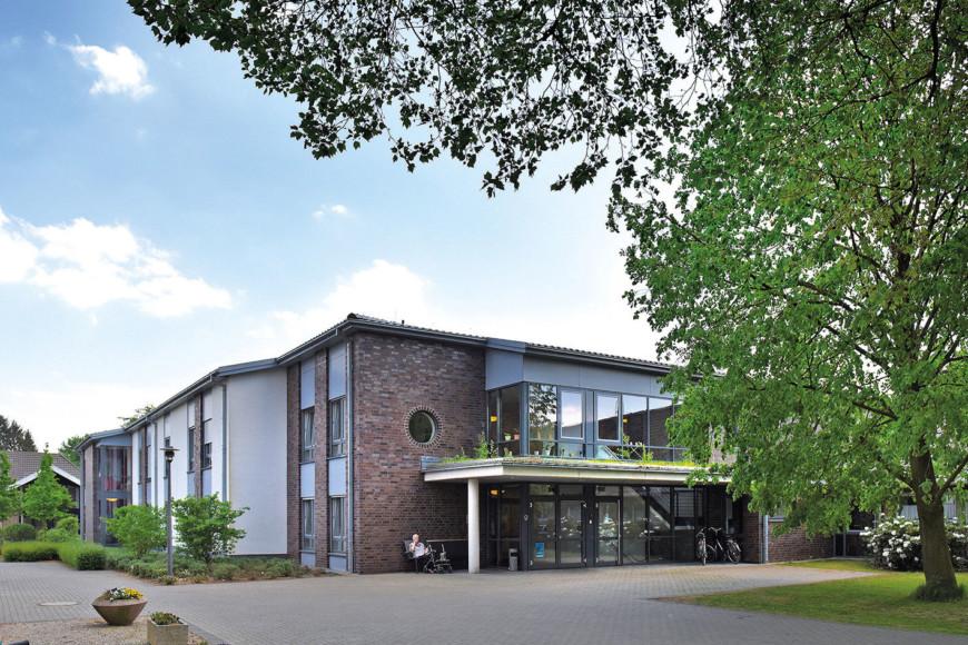 Der moderne Neubau des Josefshaus - Haus für Senioren in Goch Pfalzdorf.